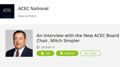 Inaugural ACEC Podcast Features Chair Mitch Simpler