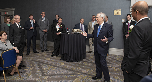 ACEC Hosts Reception for Senate Majority Leader Mitch McConnell at ACEC Convention