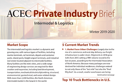 Lastest ACEC Private Industry Brief Breaks Down the Intermodal & Logistics Market
