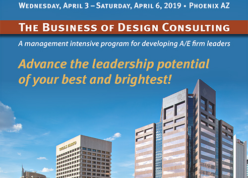 Keep Your Firm Thriving with ACEC's Business of Design Consulting Course, April 3-6