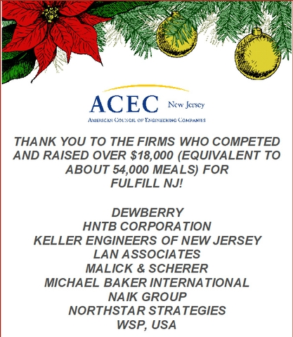 ACEC New Jersey Raises $18,000 Through Online Food Drive