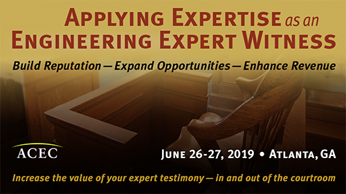 Learn How to Become an Expert Witness, Two-Day Seminar, Atlanta, June 26-27